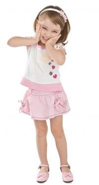 Des chaussures à la mode pour les petites filles